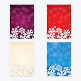 Christmas and New Year's backgrounds with snowflakes. Print of snowflakes .Christmas and New Year banners.Postcards Royalty Free Stock Photography