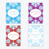 Christmas and New Year's backgrounds with snowflakes. Print of snowflakes .Christmas and New Year banners.Postcards Royalty Free Stock Image
