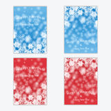 Christmas and New Year's backgrounds with snowflakes. Print of snowflakes .Christmas and New Year banners.Postcards Stock Image