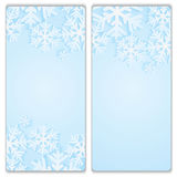 Christmas and New Year's backgrounds with snowflakes. Print of snowflakes on a blue backgrounds.Christmas and New Year banners Royalty Free Stock Photos