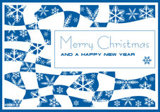 Christmas and New Year's card. Modest, laconic card - a congratulation on Christmas and New year Stock Photography