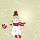 Christmas and new year's card Stock Images