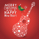 Christmas and New Year s card Royalty Free Stock Images