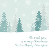 Christmas and New Year`s card Stock Photos