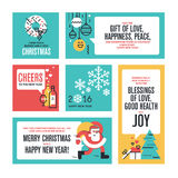 Christmas and New Year's collection Royalty Free Stock Photos