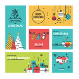 Christmas and New Year's collection stock illustration