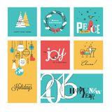 Christmas and New Year's collection Stock Images