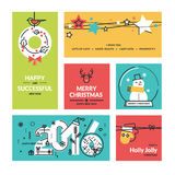 Christmas and New Year's collection Stock Photography