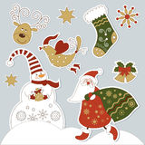 Christmas and new year's elements Stock Images