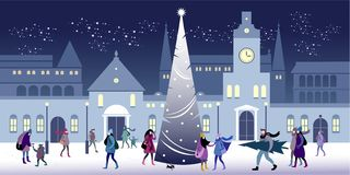 Christmas and New Year`s Eve stock illustration
