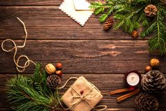 Christmas, New Year'S Eve, Postcard Royalty Free Stock Photo