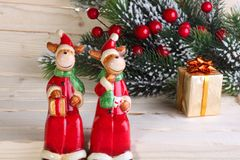 Christmas (New Year's) figures of deer Stock Image