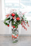 Christmas and New Year's  flowers composition. Royalty Free Stock Images