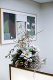 Christmas and New Year's  flowers composition. Royalty Free Stock Image