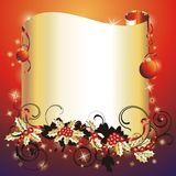 Christmas & New-Year's frame. Stock Image