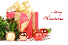 Christmas or new year's gift Royalty Free Stock Photo