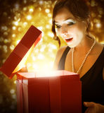 Christmas or New Years Gift Stock Images