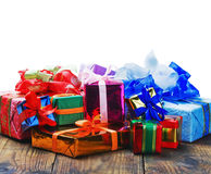 Christmas and New Year's gifts Stock Images