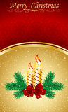 Christmas & New-Year's greeting card Royalty Free Stock Photos