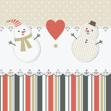 Christmas and New Year's greeting card Royalty Free Stock Images