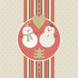 Christmas and New Year's greeting card stock illustration