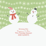 Christmas and New Year's greeting card Stock Photos