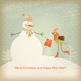 Christmas and New Year's greeting card Stock Image