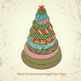 Christmas and New Year's greeting card Stock Photo