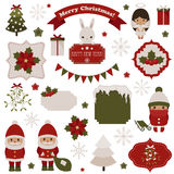 Christmas and New Year's icons Stock Photography