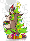 Christmas & New Year's kangaroo Stock Photography