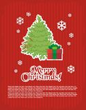 Christmas and New Year's minimal simple postcard Royalty Free Stock Photo