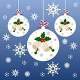 Christmas and New Year's poster. Vector card Merry Christmas and Happy New Year Stock Photography