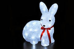 Christmas and New Year's rabbit Stock Image