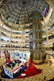 Christmas  New Year's sale in a big mall. Kuala Lumpur, Malaysia - December 15, 2014: Christmas, New Year's sale in a big mall Royalty Free Stock Image