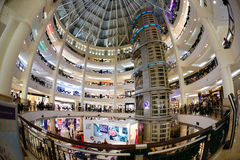 Christmas  New Year's sale in a big mall. Kuala Lumpur, Malaysia - December 15, 2014: Christmas, New Year's sale in a big mall Royalty Free Stock Photos