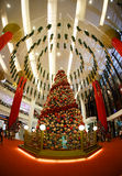 Christmas  New Year's sale in a big mall Royalty Free Stock Photography
