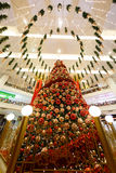 Christmas  New Year's sale in a big mall Stock Image
