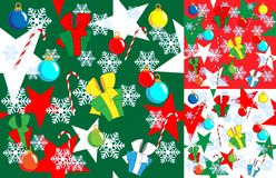 Christmas and New Year's seamless background Stock Images