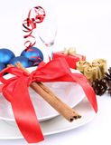 Christmas or New Year's table Royalty Free Stock Images