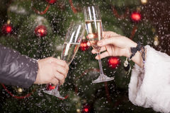 Christmas New Year's toast Stock Image