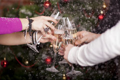 Christmas New Year's toast Stock Images
