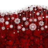 Christmas New Year S White Pattern On Red. EPS 8 Royalty Free Stock Images