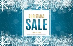 Christmas and New Year Sale Background, Discount Coupon Template. Vector Illustration Royalty Free Stock Image