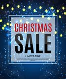 Christmas and New Year Sale Background, Discount Coupon Template. Vector Illustration Stock Photos