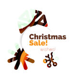 Christmas and New Year sale banner. Vector illustration Royalty Free Stock Photography