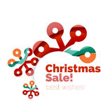 Christmas and New Year sale banner. Vector illustration Stock Image