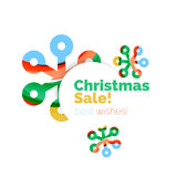 Christmas and New Year sale banner. Vector illustration Stock Photos
