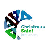 Christmas and New Year sale banner. Vector illustration Stock Images