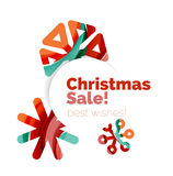 Christmas and New Year sale banner Royalty Free Stock Photo