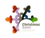 Christmas and New Year sale banner. Vector illustration Royalty Free Stock Photos